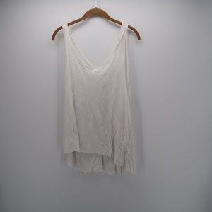 We The Free Scoop Neck Burnout Muscle Tee Tank Top